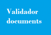 Validador de documents